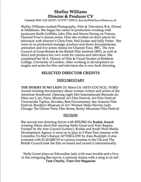 Shelley Williams CV PDF